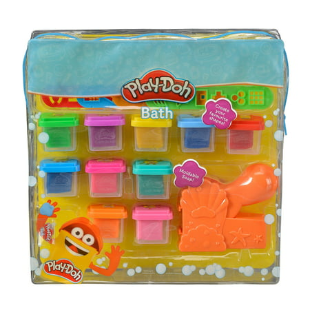 Play-Doh Moldable Soap Bath Time Play Set, 15 pieces