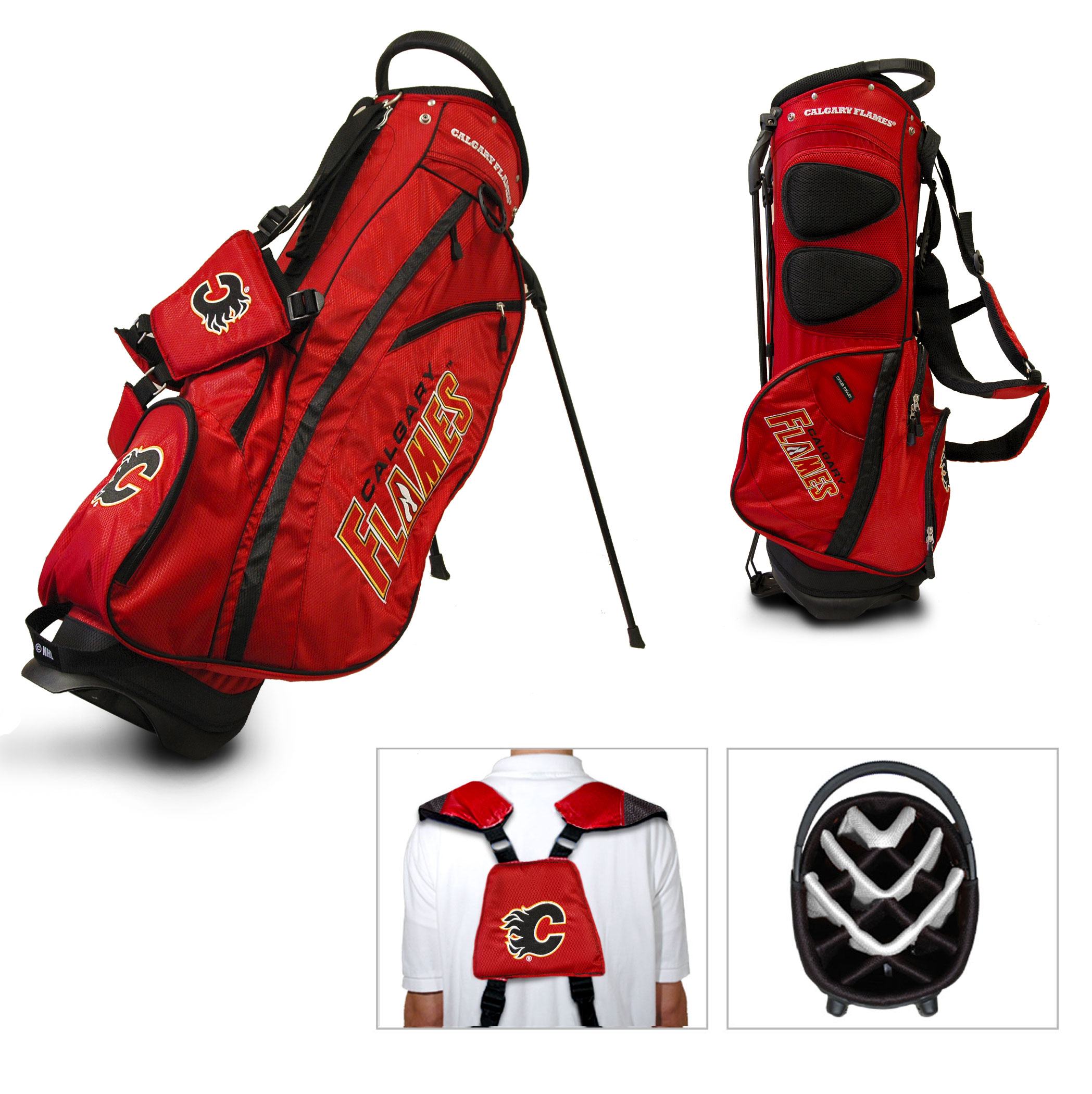 Team Golf Calgary Flames NHL Fairway Stand Bag