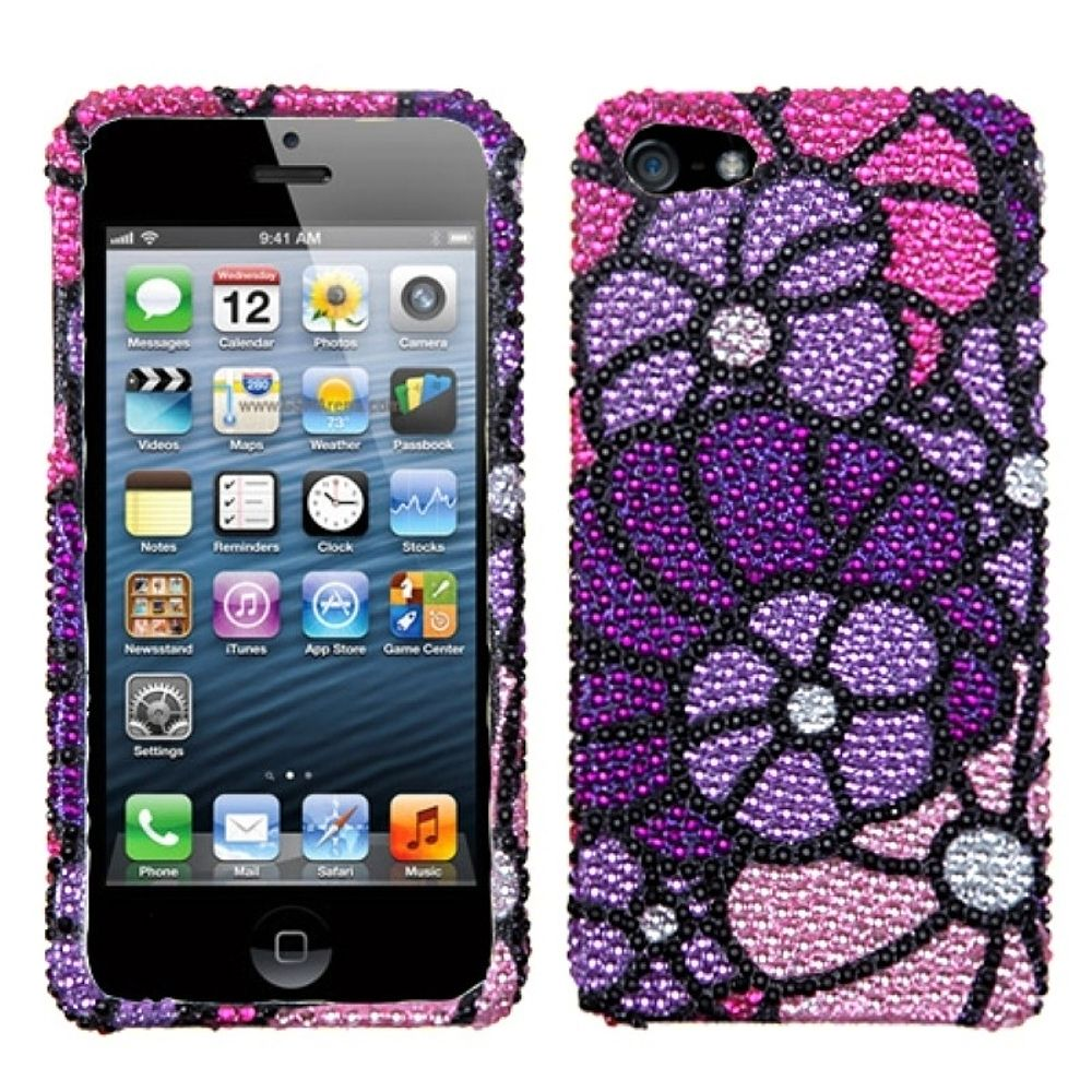 Insten Hard Bling Cover Case For Apple iPhone 5/5S/SE - Pink