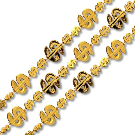 Dollar Sign Bling Necklace Pack Of 12 - Dollar Sign Necklaces