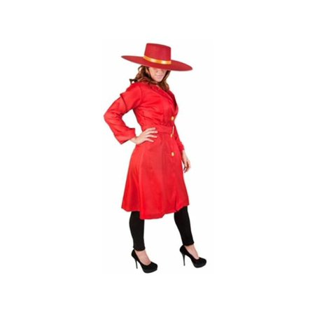 Adult Red Carmen San Diego Costume