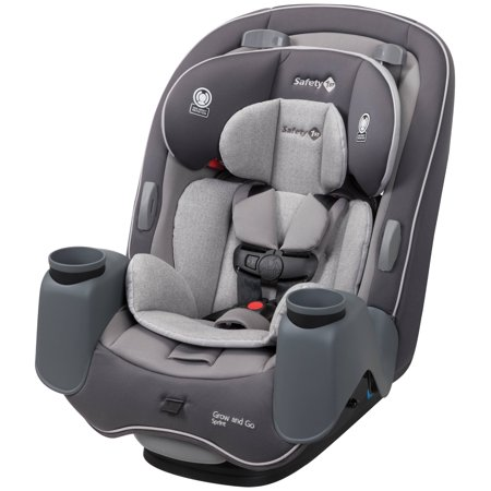 Safety 1st Grow and Go Sprint 3-in-1 Convertible Car Seat, Silver (5 Point Harness Toddler Car Seat)
