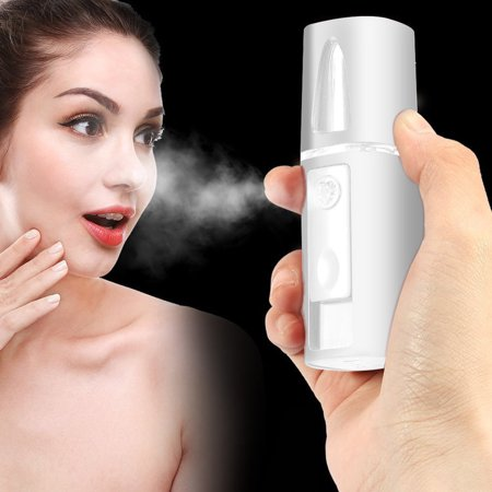 Walfront Handy Nano Mister Facial Mist Spray Face Sprayer Rechargeable Sliding Nano Facial Mini Steamer Moisture Ionic Mist Sprayer Best Dry Oil Skin Treatment