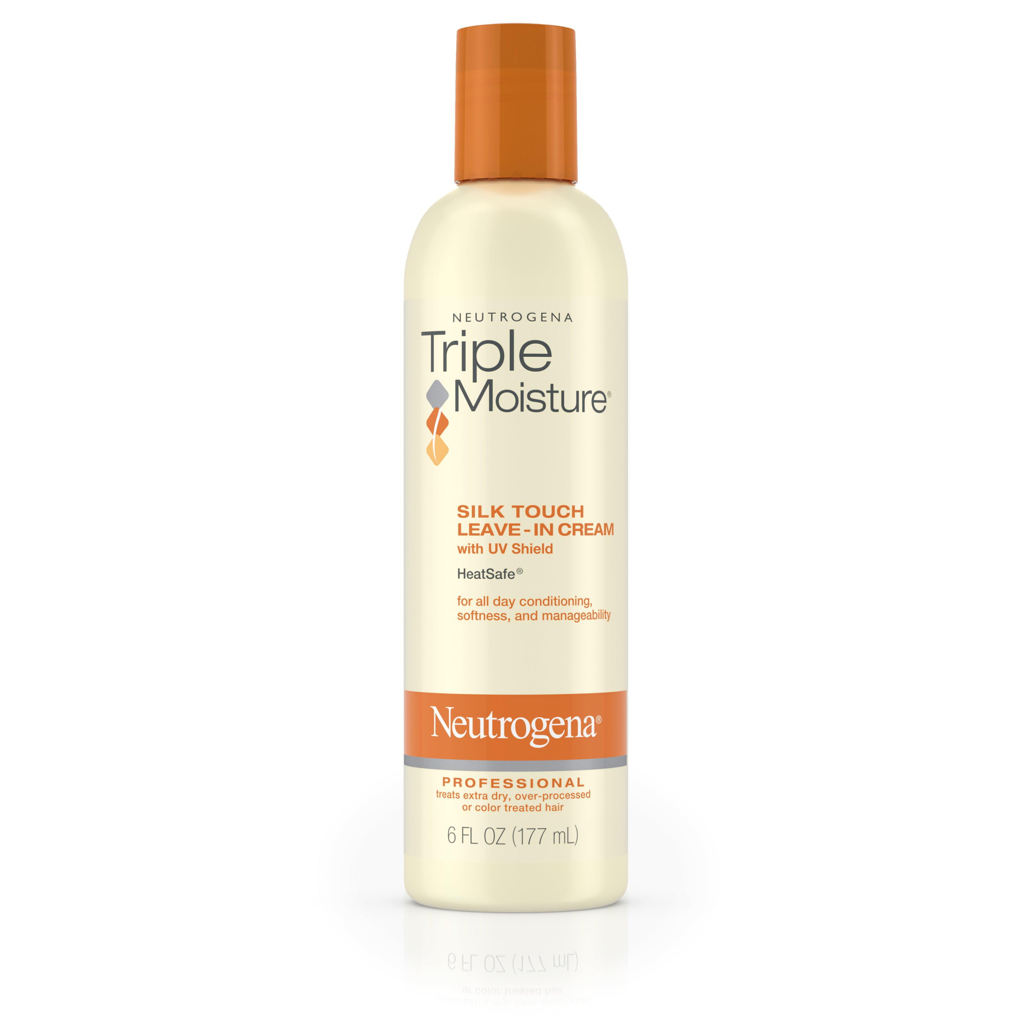 Neutrogena Triple Moisture Silk Touch Leave-In Cream For Dry And Damaged Hair, 6 Fl. Oz. - Walmart.com