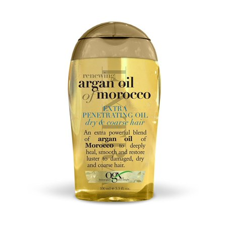 Organix  Renewing Moroccan Argan Oil Extra Strength Penetrating Oil for Dry/Coarse Hair, 3.3 (Best Natural Oil For Fine Hair)