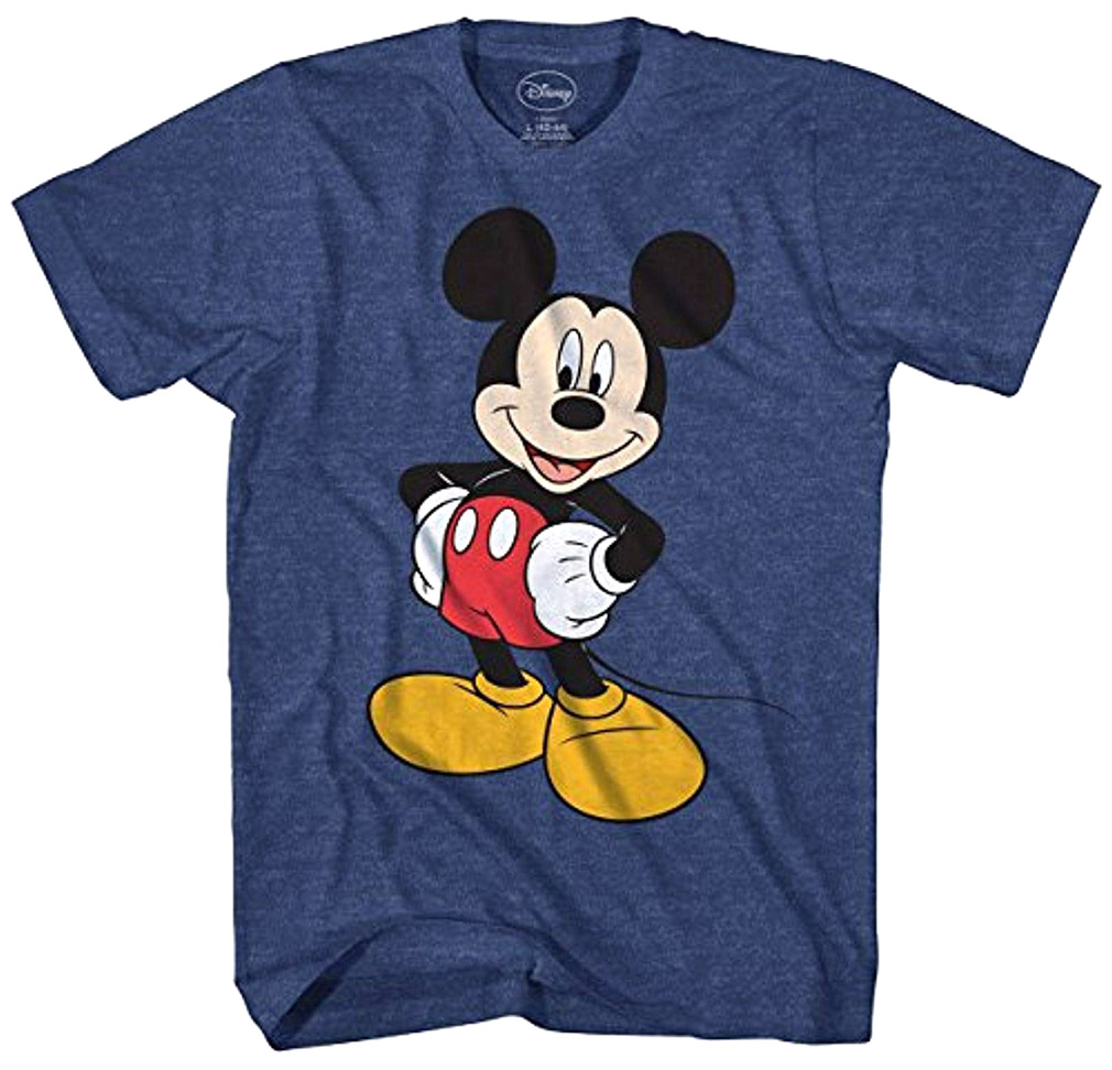Disney Men's Mickey Mouse Happy Stance Character T-Shirt