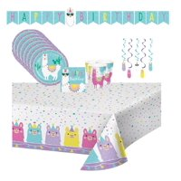 Llama Fiesta Birthday Party Supplies for 16