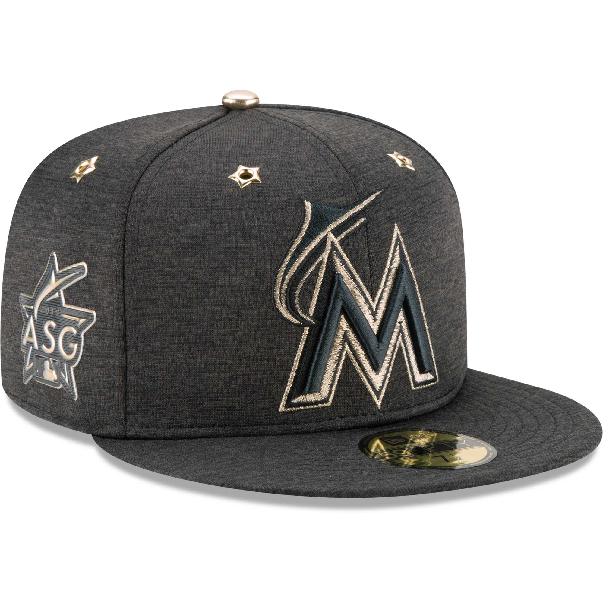 newest 2d7b6 5514f ... sweden miami marlins new era 2017 mlb all star game side patch 59fifty  fitted hat heathered