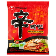 Nongshim Gourmet Spicy Shin Ramyun Noodle Soup, 4.2 oz, 10 pack