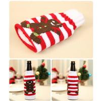 (Toponeto) 1pc Christmas Wine Bottle Set Santa Decoration Xmas Bottle Cap Xmas Decor GN