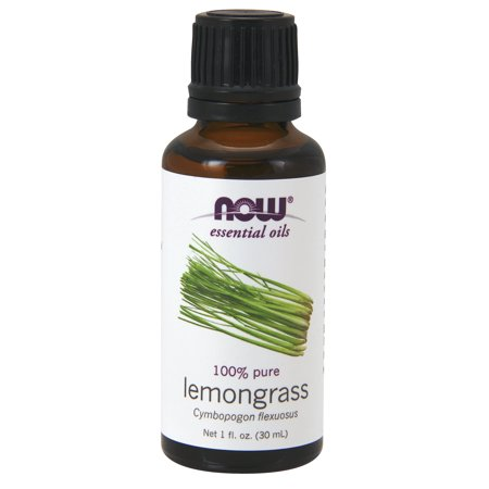 NOW Essential Oils, Lemongrass Oil, Uplifting Aromatherapy Scent, Steam Distilled, 100% Pure, Vegan, 1-Ounce