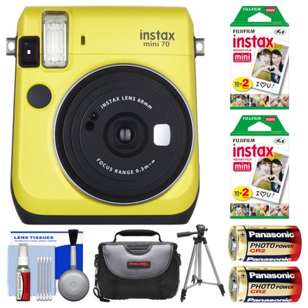 Fujifilm instax mini 70 instant film camera yellow with for Housse instax mini 70