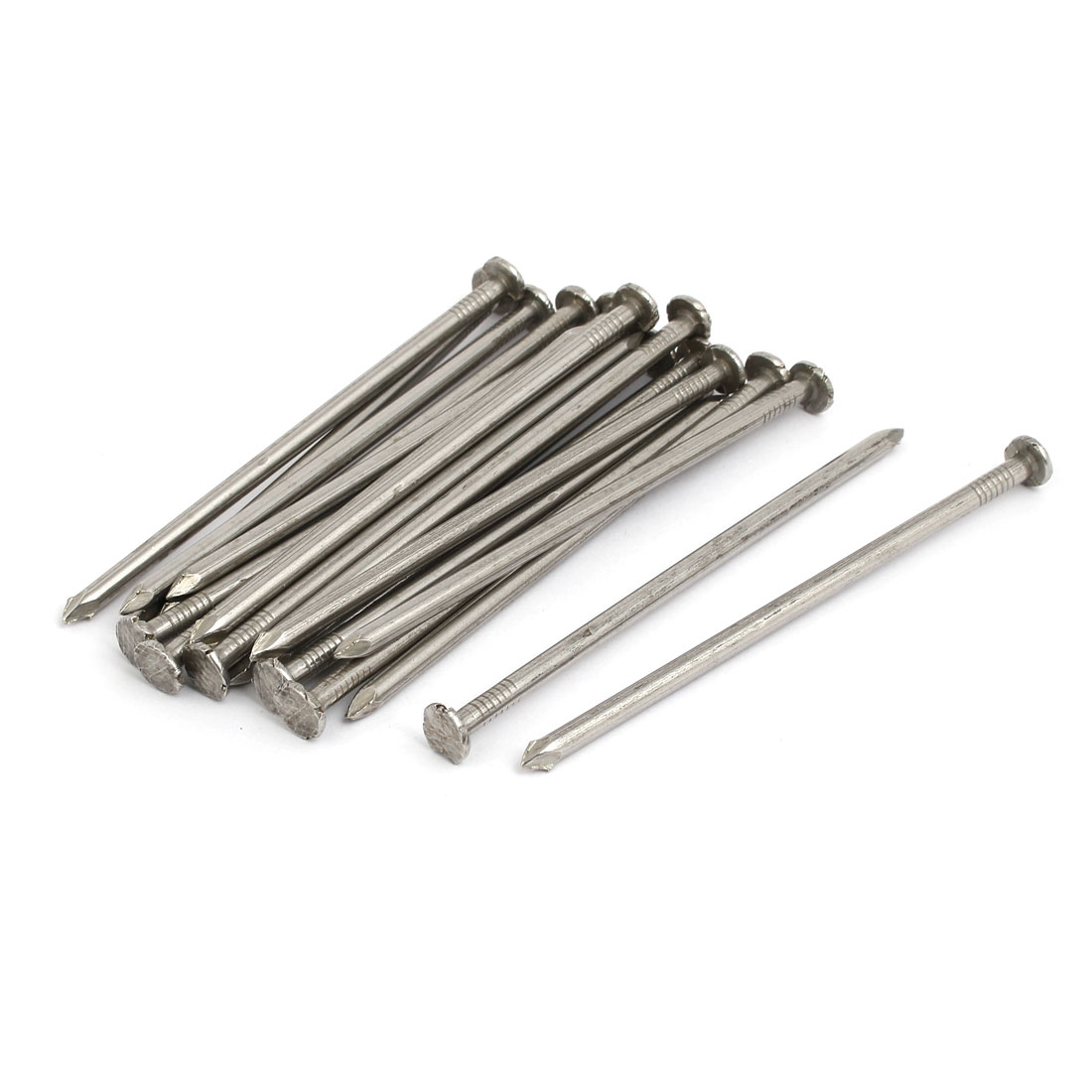 4 in. 304 Stainless Steel Cement Wood Sliding Nail Silver Tone (20-pack)