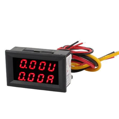 Unique Bargains DC 0-30V 0-5A Red Red  Dual Digital Display Panel Voltmeter Ammeter Meter ()