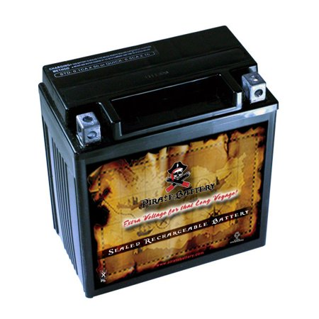 YTX16-BS Motorcycle Battery for Suzuki 1600cc Marauder Boulevard M95 2004](Marauder Pirate)
