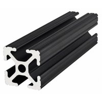 80/20 1010-BLACK-72 T-Slotted Framing Extrusion, 10 Series