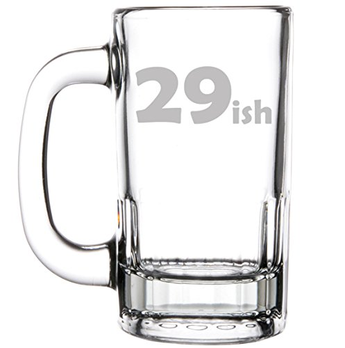12oz Beer Mug Stein Glass Funny 30th Birthday 29ish by