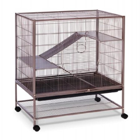 prevue pet products rat and chinchilla cage 495 earthtone dusted rose 31 inch by 20 1 2 inch by. Black Bedroom Furniture Sets. Home Design Ideas