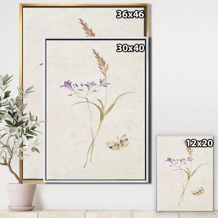 Wild Simple Wallflowers I - Farmhouse Framed Canvas - image 1 of 3