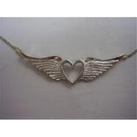 Hotrod Rocks HRR-008P Winged Heart Necklace