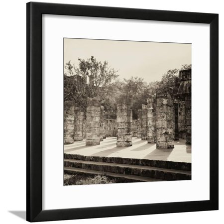 ¡Viva Mexico! Square Collection - One Thousand Mayan Columns in Chichen Itza VI Framed Print Wall Art By Philippe Hugonnard Chichen Itza Mexico Framed
