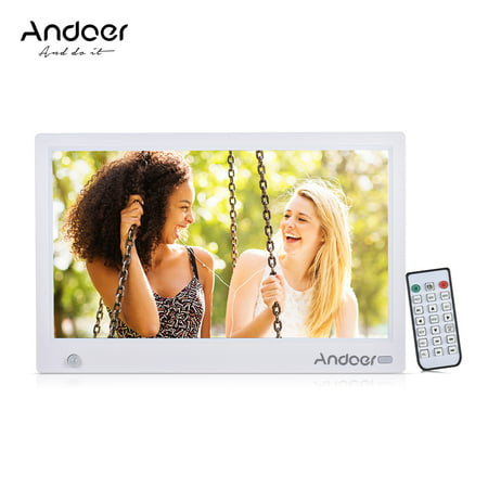 Andoer 11.6 Inch HD IPS Widescreen Digital Picture Frame Digital Photo Album 1920*1080 High Resolution with Full Featured Wireless Remote Motion Detection
