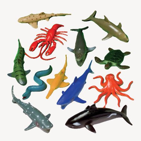 - US Toy Assorted Ocean Sea Animals Action Figure (Lot of 12)