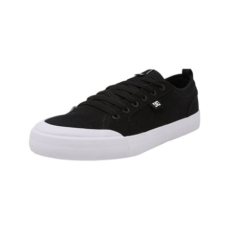 Dc Men's Evan Smith Tx Black / White Ankle-High Canvas Skateboarding Shoe - 13M ()