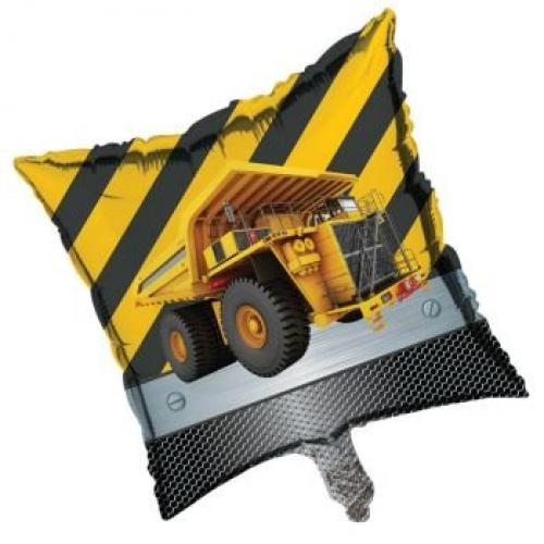 """Construction Zone Party 18"""" Square Balloon (1 ct)"""