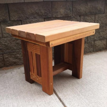 Wood Country Cabbage Hill Solid Cedar End Table