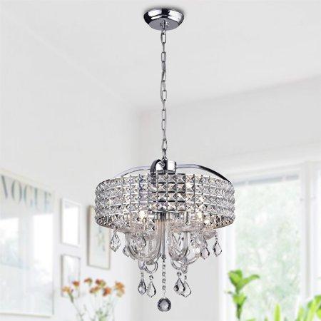 Hong Kong best New Zhu Yuan lighting Co. Anteron 4-Light Chrome Crystal Chandelier - Chrome