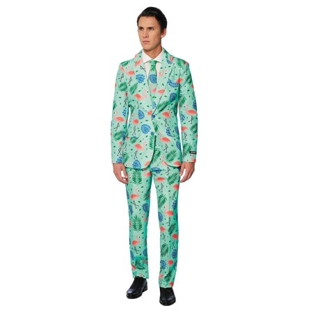 OppoSuits Men's Tropical Flamingo Suit