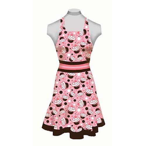 Creative Cuts Adult Apron Kit, Cupcakes, Pink