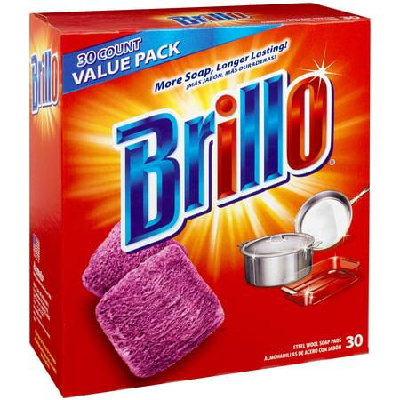 Brillo Steel Wool Soap Pads, 30 -