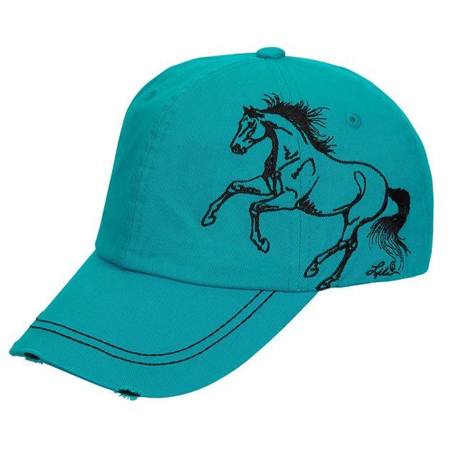 Equi-Ternatives 9290001172 Unisex Galloping Horse Distressed Baseball Cap, Brown - One Size - image 1 de 1