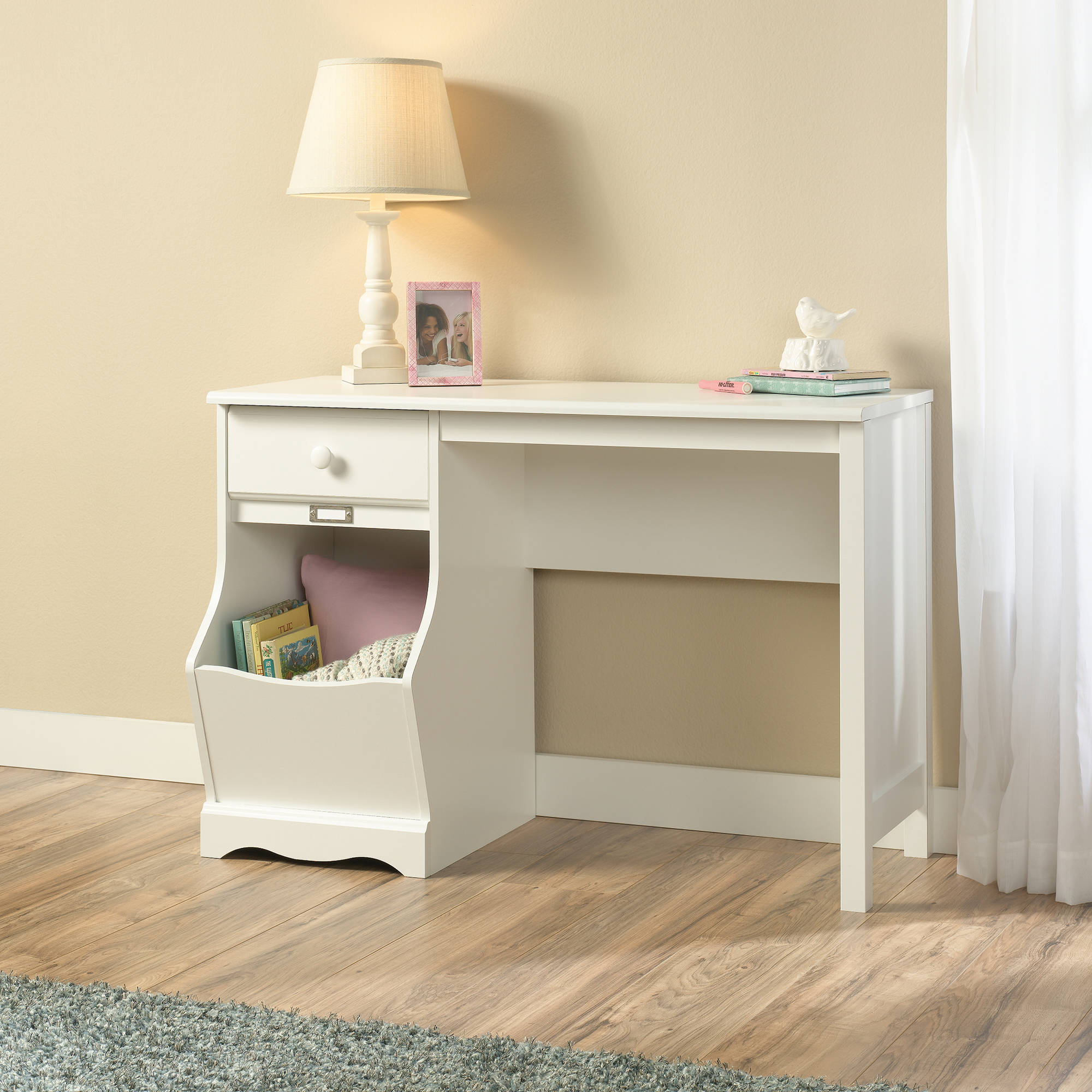 Sauder Storybook Desk, Soft White Finish