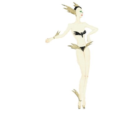 ?_ The Murray??s Cabaret Club Collection / Mary Evans Picture Library Stretched Canvas Art - 'Mercury God Of Speed' - Murray'S Cabaret Club Costume - Medium 18 x 24 inch Wall Art Decor Size.