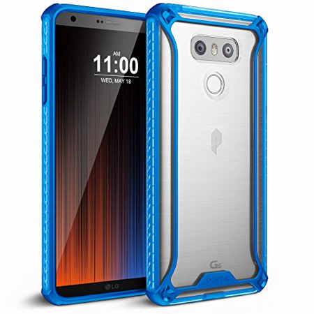 sports shoes 8a419 1f015 Poetic Affinity Slim Fit Dual Material Protective Bumper Case for LG G6  Blue/Clear
