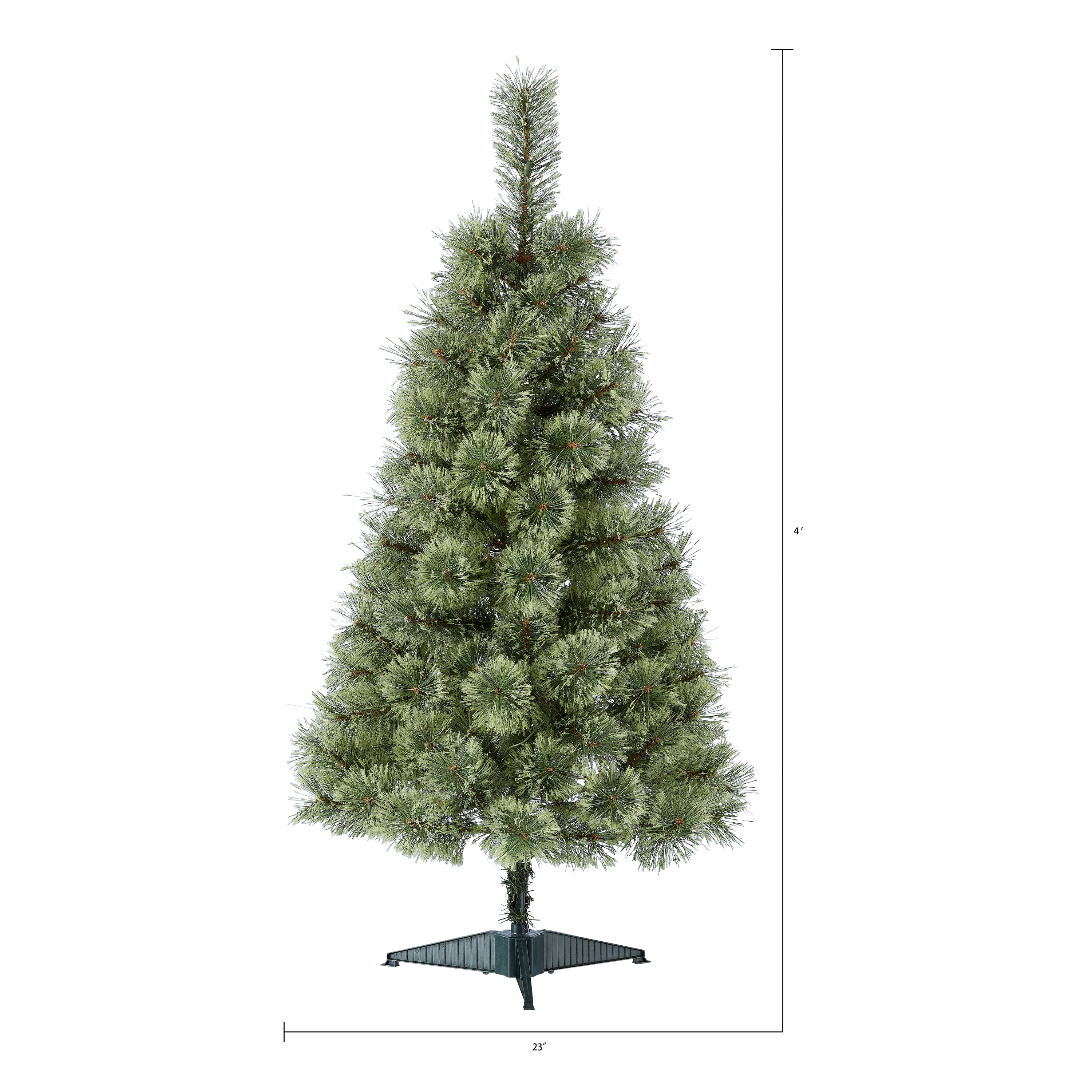 Artificial Christmas Tree Sizes.Holiday Time Prelit Conical Christmas Tree 4 Ft Green