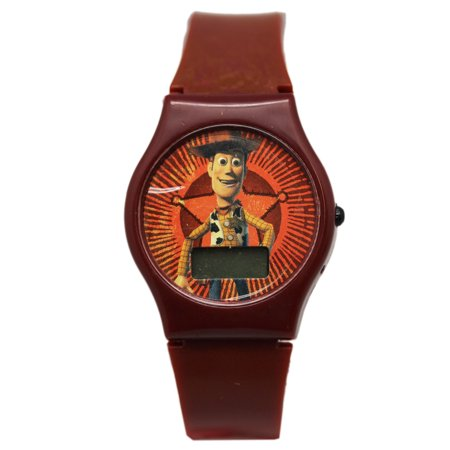 Halloween The Inside Story Watch (Disney Pixar's Toy Story Woody Brown Colored Band Digital Dial Kids)