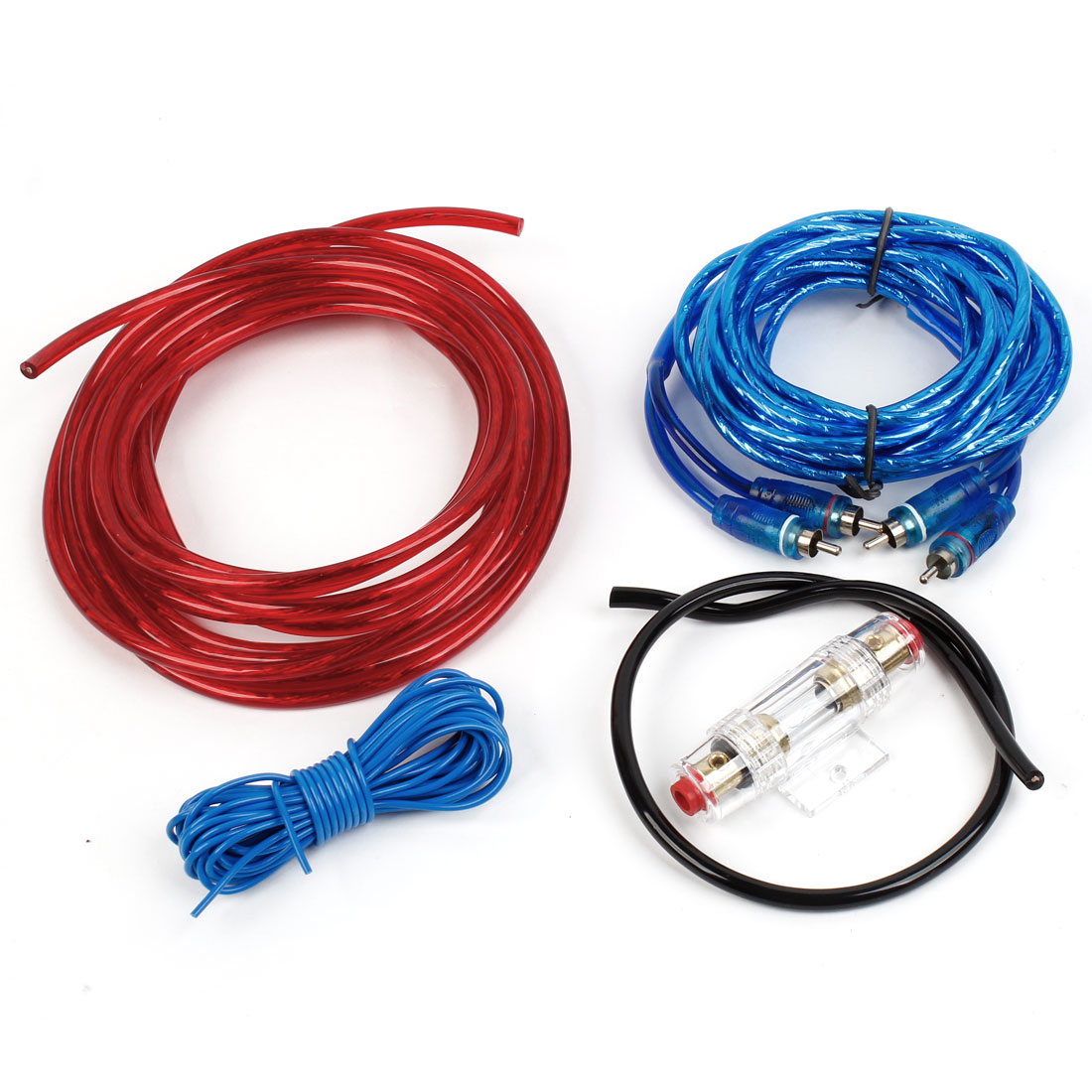 Unique Bargains Auto Car Spare Parts Audio Power Amplifier Cable Wiring Kit Set