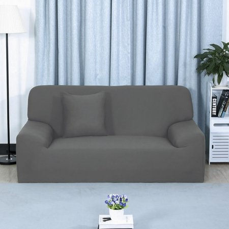 Stretch Chair Sofa Covers 1 2 3 4 Seater Gray Sofa-4seater - image 2 of 8