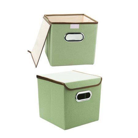 Leds For Clothing (Storage Bins Fabric Boxes with Lid for Toy Clothes Organizer Green Set of)