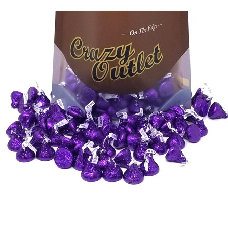 Hershey's Kisses, Dark Chocolate, Purple Foils, Bulk, 3Lbs](Purple Chocolates)