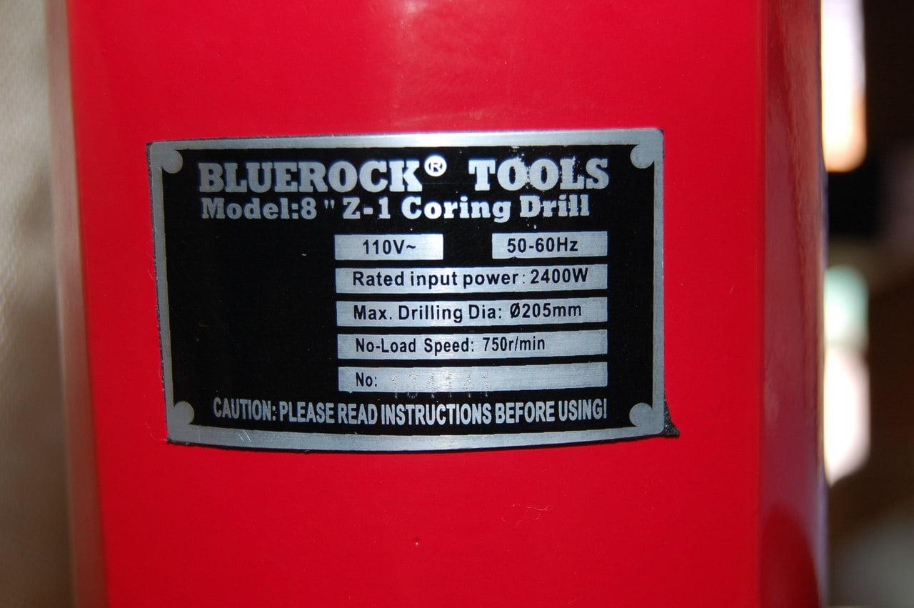 "1-8/"" WET BIT SET PACKAGE DEAL! NEW BLUEROCK® 8/"" Z-1 CORE DRILL CONCRETE CORING"