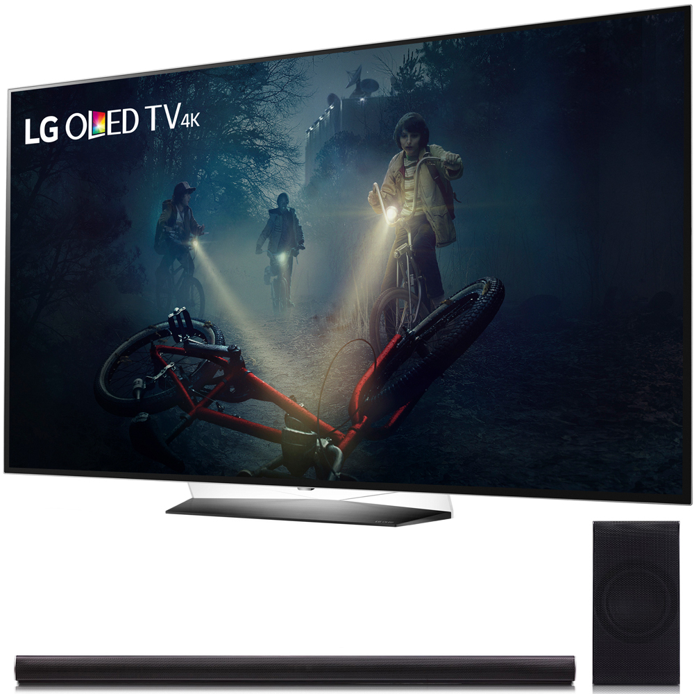 "LG B7A Series 55"" OLED 4K HDR Smart TV 2017 Model (OLED55B7A) with LG SH7B 360W 4.1ch Music Flow Wi-Fi Sound Bar with Wireless Subwoofer"