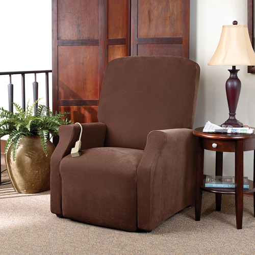 Sure Fit Stretch Pique Lift Recliner Slipcover, Large