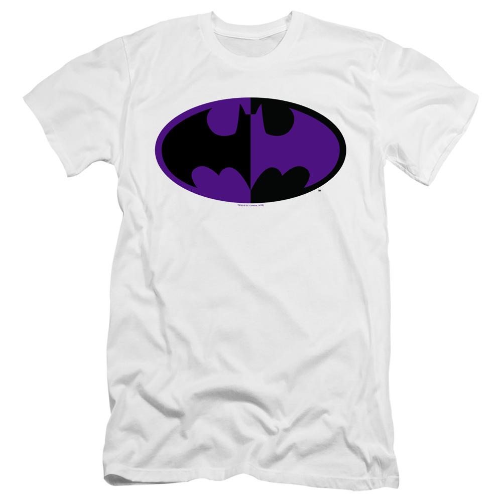 Batman Over Symbol Premium Adult Slim Fit T-Shirt
