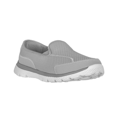 (Athletic Works Women's Medium and Wide Width Knit Slip on Shoe)