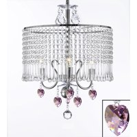 Contemporary 3-light Crystal Chandelier Lighting With Crystal Shades